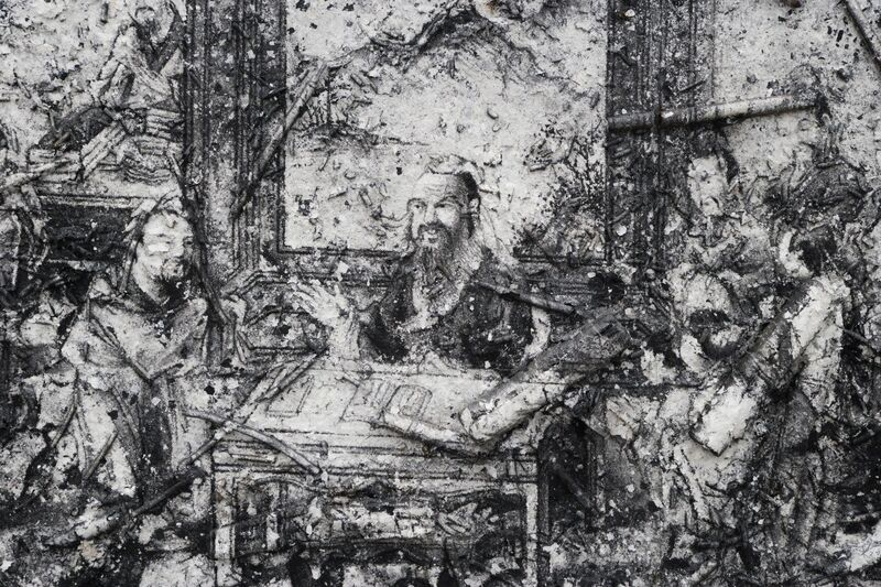 Zhang Huan, 'Q-Confucius No. 4', 2011, Mixed Media, Ash on linen, Rockbund Art Museum