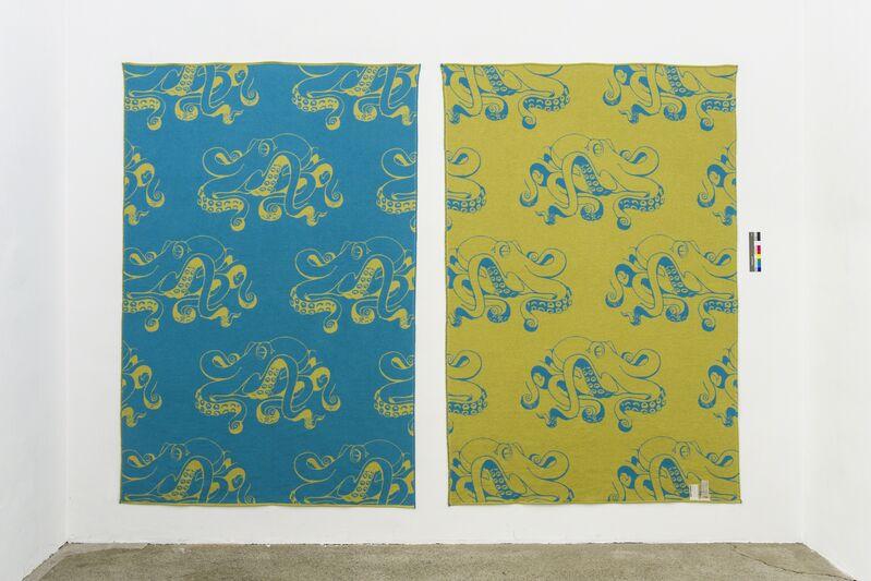 John M. Armleder, 'GOLD FISH', 2016, Textile Arts, Cotton Jacquard, reversible in different colours, Galerie Elisabeth & Klaus Thoman