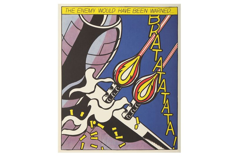 Roy Lichtenstein, 'As I Opened Fire (Triptych)', Print, Three lithographs, Chiswick Auctions