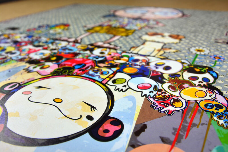 Takashi Murakami, 'With eyes on the reality of one hundred years from now', 2013, Print, Offset lithograph with silver on paper, ARTETRAMA