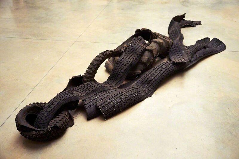 Huma Bhabha, 'Atlas (Installation view)', 2015, Sculpture, Recycled tire, 56th Venice Biennale
