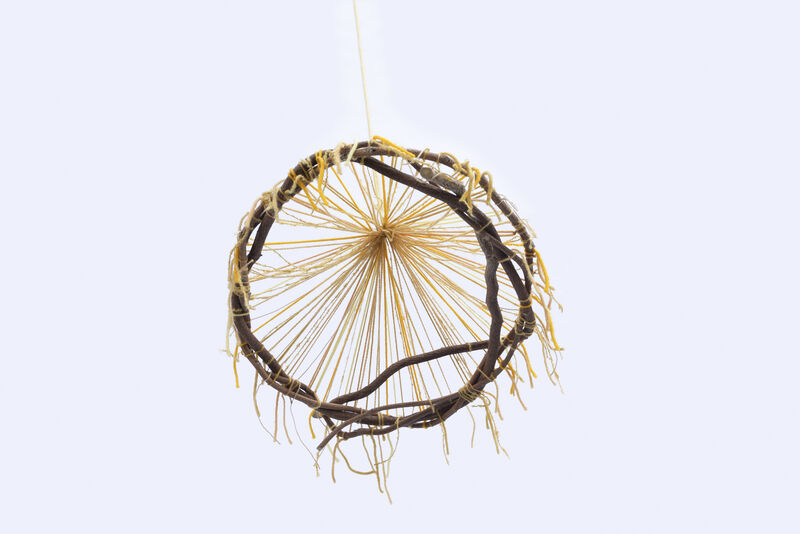 Maki Teshima, 'Taiyo', 2020, Sculpture, Cotton and Wool yarn dyed with marigold, onion skins, osage orange, carrot tops, weld, tree twig, SHIM Art Network