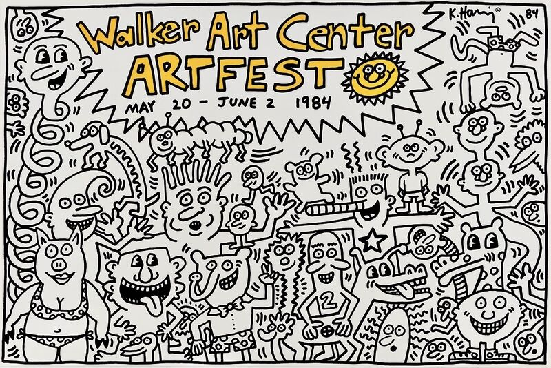 Keith Haring, 'Keith Haring Walker Art Center Artfest poster 1984:', 1984 , Posters, Offset lithograph, Lot 180