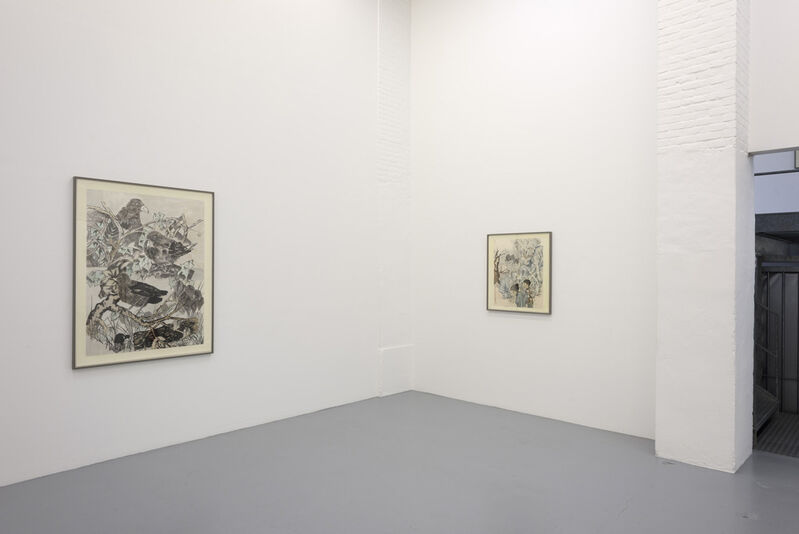 Yun-Fei Ji 季云飞, 'Two women', 2015, Drawing, Collage or other Work on Paper, Ink and watercolour on Xuan paper mounted on silk, Zeno X Gallery