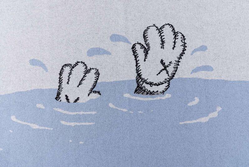 KAWS, 'Untitled (Blue)', 2019, Textile Arts, 100% cashmere blanket, Forum Auctions