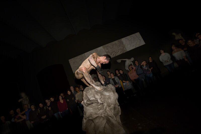 Cassils, 'Becoming an Image Performance Still No. 4, (Pennsylvania Academy of Fine Arts, Historic Casting Hall)', 2016, Photography, Performance Document, Ronald Feldman Gallery