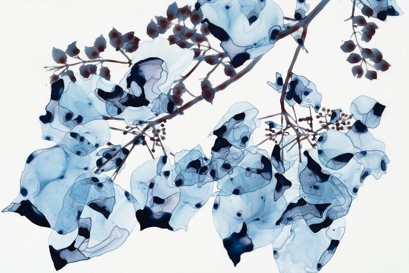 Jackie Battenfield, 'Blue Wash Cs1', 2018, Painting, Acrylic on mylar mounted on acrylic panel, Kenise Barnes Fine Art