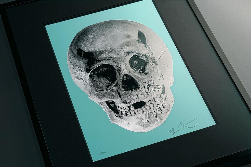 Damien Hirst, ''Till Death Do Us Part Skull, Turquoise/Silver', 2012, Print, Silkscreen, Foil-block, Glaze, Arton Contemporary