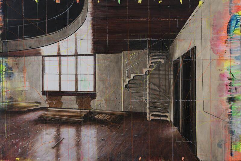 Peter Waite, 'Old School Gym/Cincinnati', 2015, Painting, Acrylic on panels, Winston Wächter Fine Art