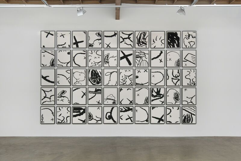KAWS, 'MAN'S BEST FRIEND', 2014, Drawing, Collage or other Work on Paper, Acrylic on paper, Modern Art Museum of Fort Worth