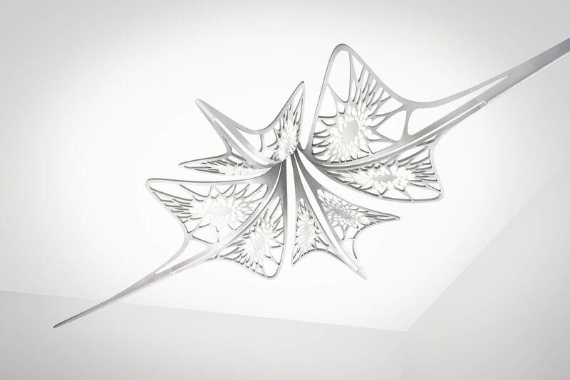 Zaha Hadid, 'Chandelier 'Lisse'', 2014, Design/Decorative Art, Crystal glass, anodised aluminium with LED lighting, David Gill Gallery