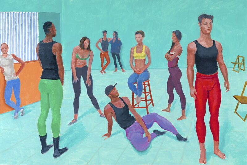 David Hockney, 'The group XI, 7-11 July 2014', 2014, Painting, Acrylic on canvas, National Gallery of Victoria