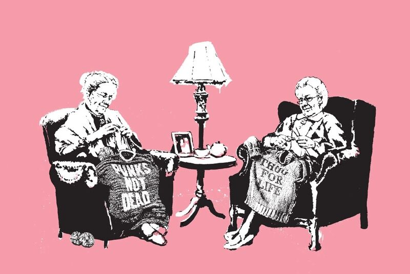 Banksy, 'Grannies', 2006, Print, Screenprint on paper, MoonStar Fine Arts Advisors