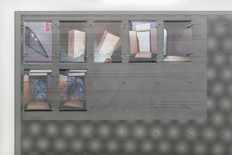 Ben Schumacher, 'AutoLich > Bart', 2013, Installation, Perforated stainless steel, hardware glass, inkjet on perforated vinyl, injet print on paper, rare earth magnets, Croy Nielsen