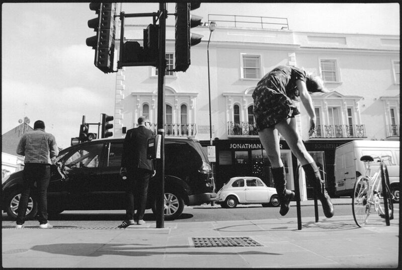 Nicola Bensley, 'Leap, Westbourne Grove, London', 2016, Photography, Silver Gelatin Fibre Print, Mounted and Signed, Candida Stevens Gallery