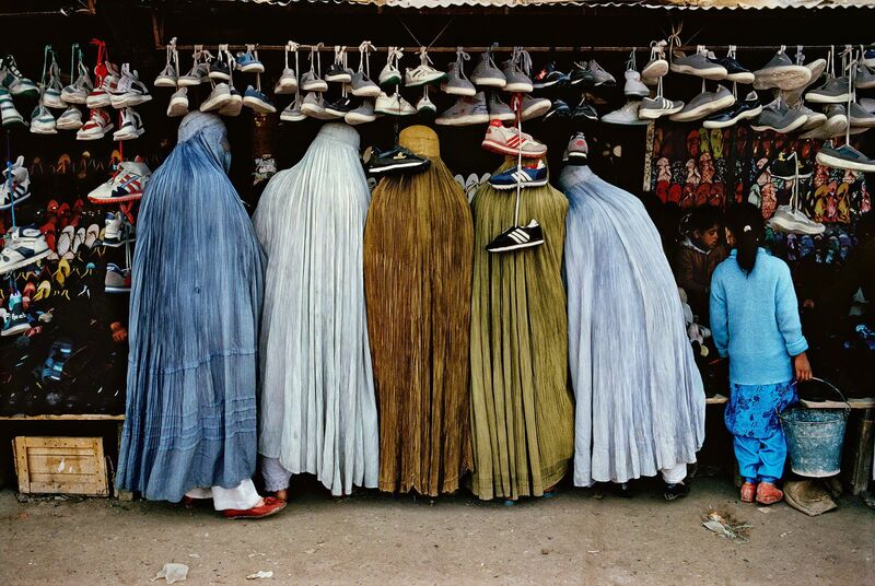 Steve McCurry, 'Afghan Women at Shoe Store, Kabul, Afghanistan,', 1992, Photography, Digital C-Print, Pictura Gallery