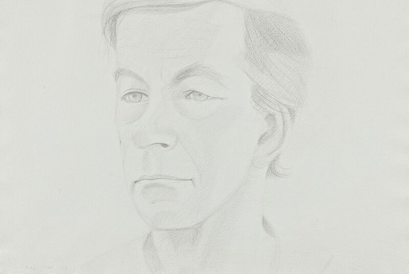 Alex Katz, 'Rudy', 1973, Drawing, Collage or other Work on Paper, Pencil on strong paper, Van Ham