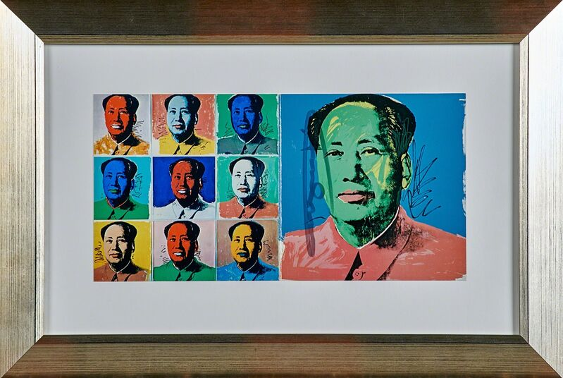 Andy Warhol, 'Mao (Invitation card)', 1972, Print, Lithograph in colors (framed), Rago/Wright