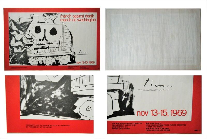 "Pablo Picasso, '""March Against Death-March on Washington"", 1969, Poster, Lithograph on Paper.', 1979, Ephemera or Merchandise, Lithograph on paper, VINCE fine arts/ephemera"