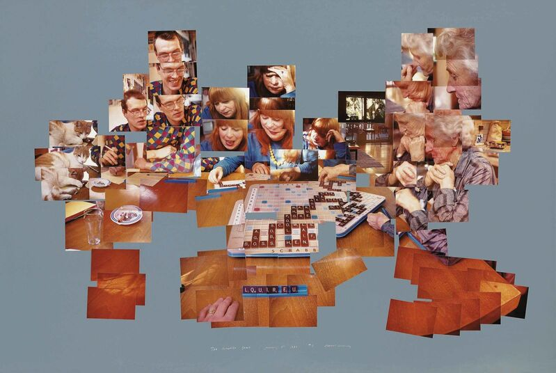 David Hockney, 'The Scrabble Game', 1983, Photographic collage in colours on grey card, Christie's