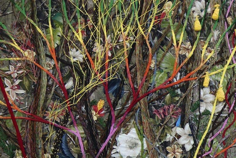 Raffy T. Napay, 'Sacred', 2014, Mixed Media, Multimedia, wool, fabric, cotton thread, Artesan Gallery + Studio