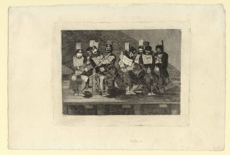 Francisco de Goya, 'No se puede saber por qué – One can't tell why', ca. 1808–1814, Print, Etching, burnished aquatint, drypoint, and burin on laid paper, Harris Schrank Fine Prints