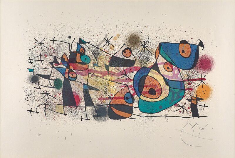 Joan Miró, 'L'Arrivée du Chevalier', 1974, Print, Lithograph in colors (framed), Rago/Wright/LAMA
