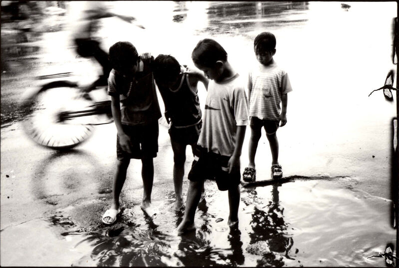 Nicola Bensley, 'Spokes Through Shallows, Vietnam', Photography, Silver Gelatin Fibre Print, Mounted and Signed, Candida Stevens Gallery