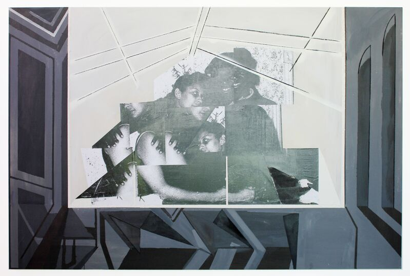 Kandis Williams, 'paralysis II', 2014, Mixed Media, Mixed media on canvas, The Studio Museum in Harlem