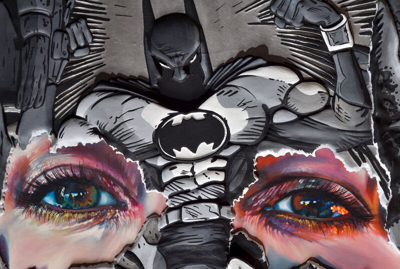 Sandra Chevrier, 'The Cage Between Freedom and Captivity: Pewter, Black and White Hand Embelished', 2019, Mixed Media, The Cage between Freedom and Captivity ( Pewter, Black and White Hand Embellished) A composite piece made from a 'bas relief' machined resin board, with Metallic pewter paint finish, layed over archival giclee printed wooden panel, embellished with acrylic paint, Mirus Gallery