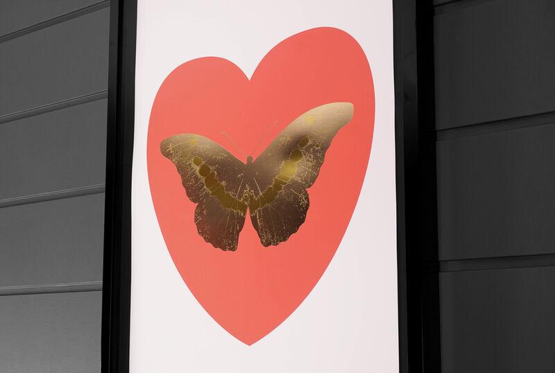Damien Hirst, ''I Love You' Butterfly, White/Coral ', 2015, Print, Silkscreen, Foil-block, Arton Contemporary