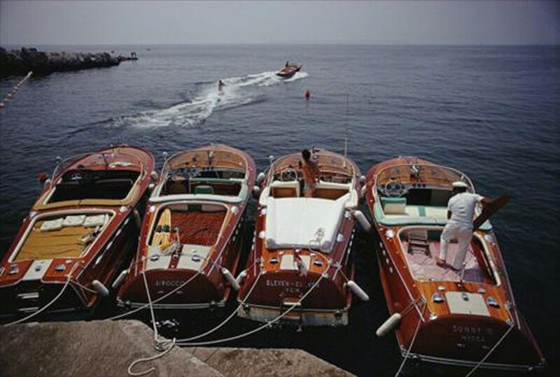 Slim Aarons, 'Waterskiing from the Hotel Du Cap-Eden-Roc in Cap d'Antibes, France', 1969, Photography, Lambda, Undercurrent Projects