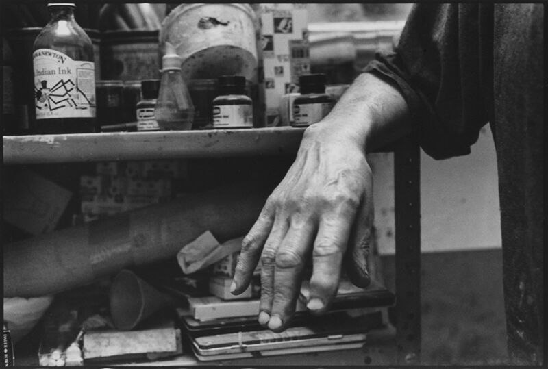 Nicola Bensley, 'Hand of Frank Auerbach', 2016, Photography, Silver Gelatin Fibre Print, Mounted and Signed, Candida Stevens Gallery