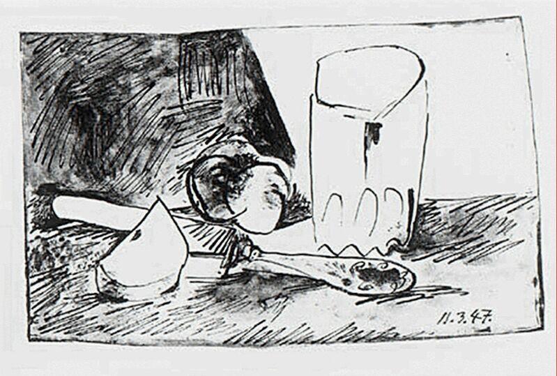 Pablo Picasso, 'Pommes, Verre et Couteau', 1947, Print, Lithograph on Wove paper, michael lisi / contemporary art