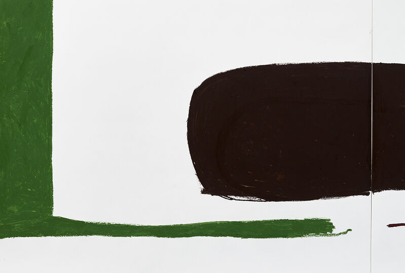 Esther Kläs, 'Green / brown', 2020, Drawing, Collage or other Work on Paper, Oil stick on paper, Kadel Willborn