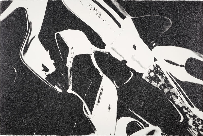 Andy Warhol, 'Diamond Dust Shoes (Black and White)', 1980, Print, Screenprint in black with diamond dust, on Arches Aquarelle paper, the full sheet., Phillips