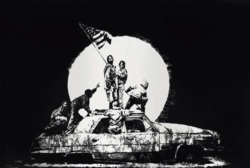 Banksy, ''Flag' (Silver, Unsigned)', 2006, Print, Screen Print, ArtLife Gallery