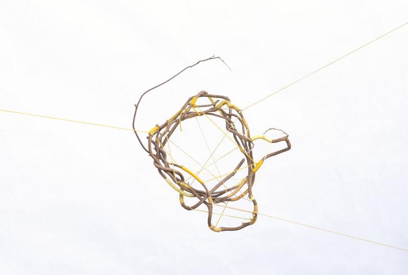 Maki Teshima, 'Jackson Heights', 2020, Sculpture, Wool yarns dyed with turmeric, osage orange, onion skins, carrot tops, marigold, tree twig, SHIM Art Network