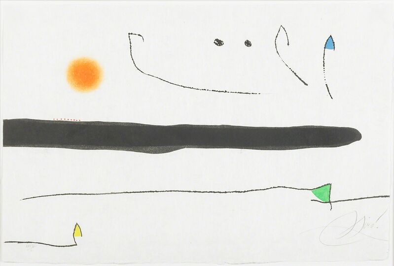Joan Miró, 'Untitled, from Le Marteau sans Maitre', 1976, Print, Etching and aquatint in colors on Japan nacre paper (framed), Rago/Wright