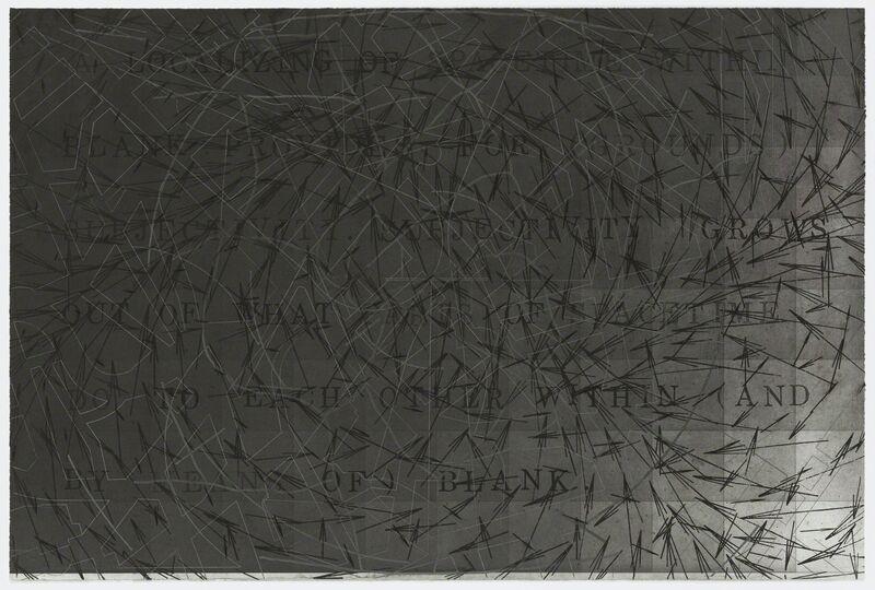Shusaku Arakawa, 'The Sharing of Nameless', 1984-1986, Print, 6-color etching with blind embossing, Graphicstudio USF