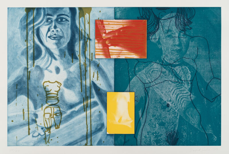 David Salle, 'Canfield Hatfield VIII, from Canfield Hatfield Suite', 1989, Print, Aquatint with photo-etching in colors, on Somerset paper, with full margins., Phillips