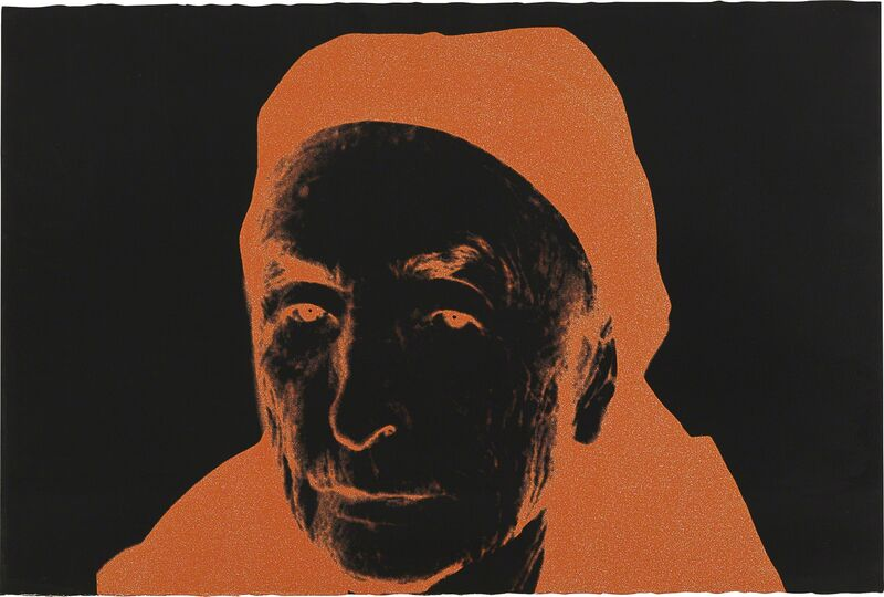 Andy Warhol, 'Georgia O'Keeffe', 1979, Print, Unique screenprint in colors with diamond dust, on Arches Aquarelle paper, the full sheet., Phillips