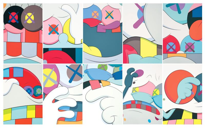 KAWS, 'BLAME GAME', 2014, Print, Complete set of 10 screenprint with front page and box, DIGARD AUCTION