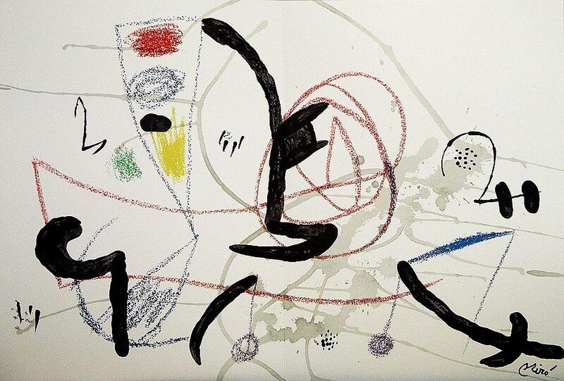 Joan Miró, 'Maravillas con variaciones acrósticas en el jardín de Miró XI', 1975, Print, Lithograph on Gvarro paper, ARTETRAMA