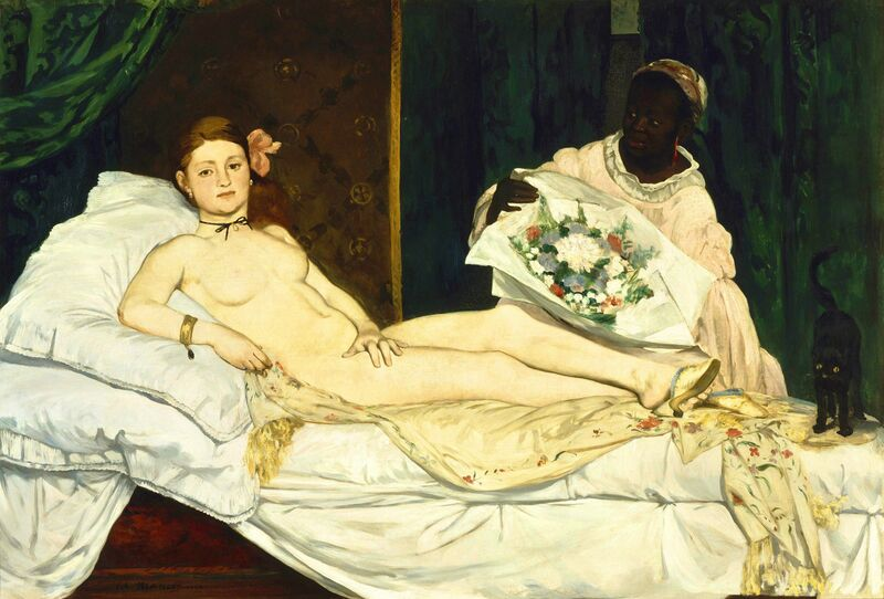 Édouard Manet, 'Olympia', 1863, Painting, Oil on canvas, Musée d'Orsay