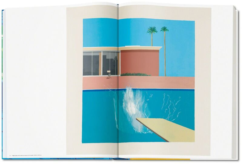 David Hockney, 'David Hockney. A Bigger Book. Art Edition A, No. 1–250', 2016, Other, Hardcover, 498 pages, 13 fold-outs, 50 x 70 cm (19.7 x 27.5 in.); with iPad drawing Untitled, 329, 2010, signed by the artist and numbered, 8-color ink–jet print on cotton-fibre archival paper, 33 x 44 cm (12.9 x 17.3 in.) on 43.2 x 56 cm (17 x 22 in.) paper; an adjustable bookstand by Marc Newson; and an illustrated 680-page chronology book, TASCHEN