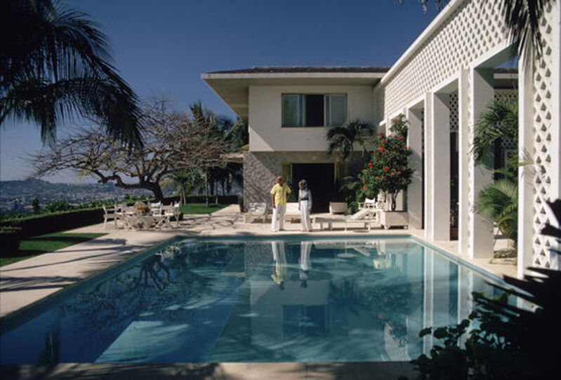 Slim Aarons, 'Acapulco Pool', 1971, Photography, Estate Stamped Lambda Print, Crane Kalman Brighton