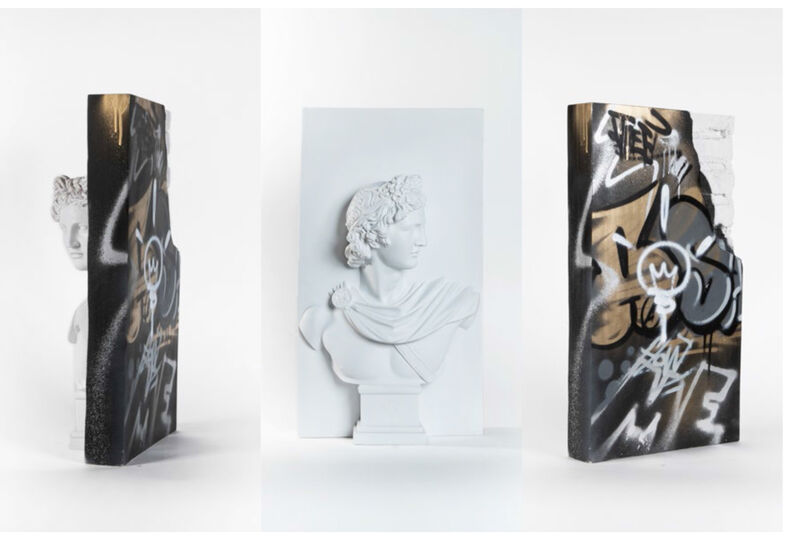 PichiAvo, 'Apollo from the Walls III', 2019, Sculpture, Resin with marble powder, Aerosol and acrylic, S16 Gallery