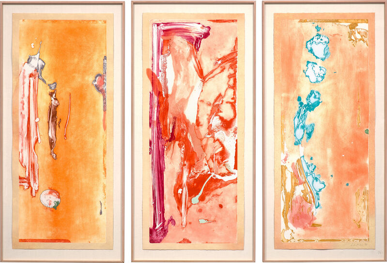 Helen Frankenthaler, 'Gateway (H. 154)', 1988, Print, Monumental etching, relief and aquatint in colors with hand-stenciled margins, on three panels of TGL Handmade paper, the full sheets., Phillips