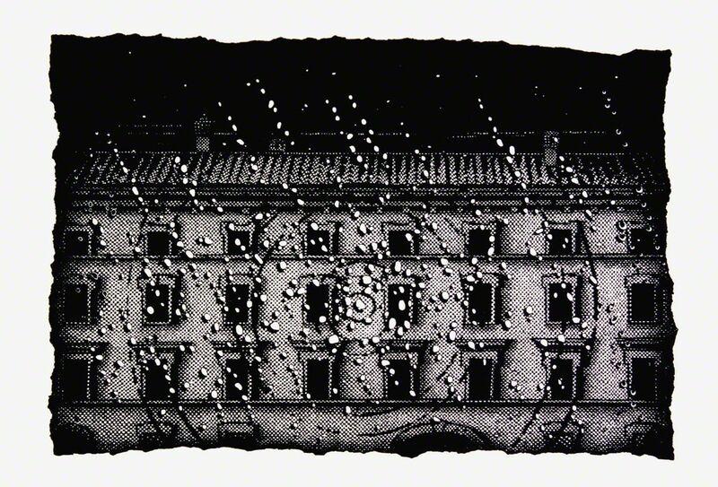 Nicolas Poignon, 'Rain and Windows', 2014, Print, Linocut, Emanuel von Baeyer